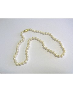 "Single Row 16"" 5.5-6mm Cultured Pearl Necklet"