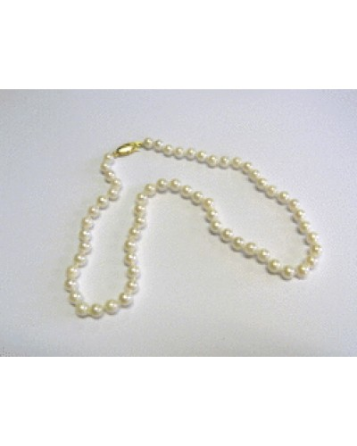 """Single Row 16"""" 5.5-6mm Cultured Pearl Necklet"""