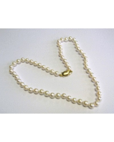 """Single Row 18"""" 6.5-7mm Cultured Pearl Necklet"""