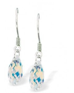 Byzantium Swarovski Crystal AB Briolette Drop Earrings 5201