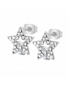 Byzantium Sterling Silver Crystal Star Stud Earrings 846