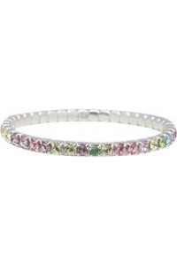 Byzantium Swarovski Crystal Multi Colour Stretch Bracelet B52