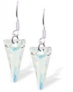 Byzantium Swarovski Crystal AB Spike Drop Earrings DR30