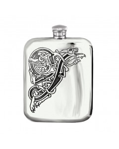 Pewter 6oz Celtic Niall Hip Flask CEL183