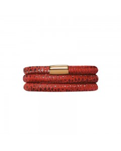 Endless JLO Red Reptile Triple Bracelet