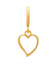 Endless Gold Plated Sterling Silver 'Big Heart' Drop Bead 53203