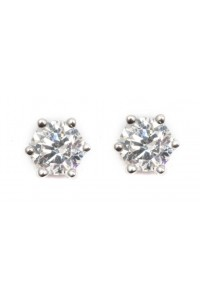 Espree Sterling Silver CZ Solitaire Earrings 5522
