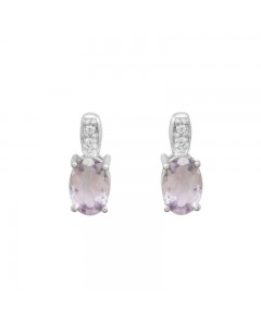 Espree Sterling Silver Pale Amethyst And CZ Earrings 5714