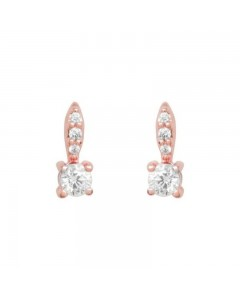 Espree Pink Rhodium CZ Stud Earrings 5738