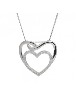 Espree Sterling Silver CZ Icy Heart Pendant 5829