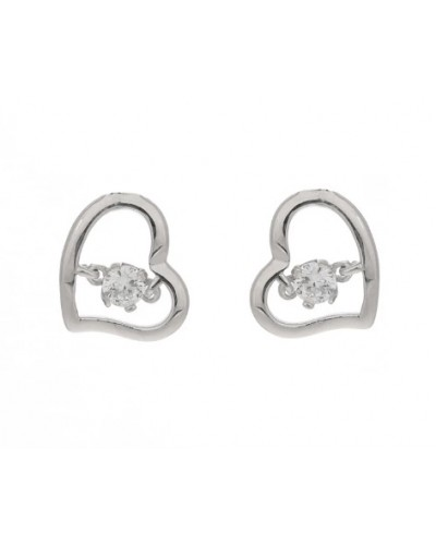 Espree Sterling Silver CZ Heart Stud Earrings 5832