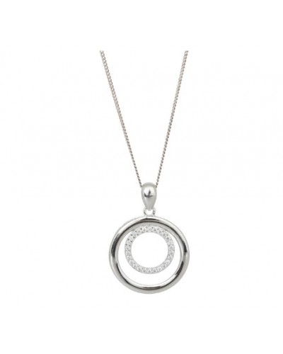 Espree Sterling Silver Double Circle Pendant 5933