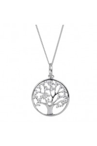 Espree Sterling Silver CZ Tree of Life Pendant 5953