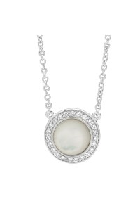 Georgini Sterling Silver Cubic Zirconia & Mother of Pearl Necklet P454W