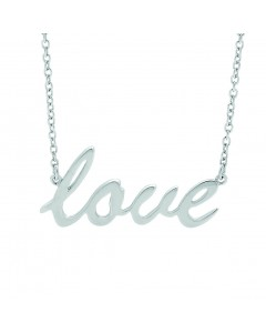 Georgini Sterling Silver 'Love' Necklet P393