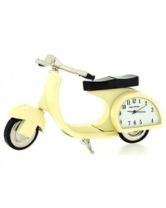 Miniature Vespa Motorcycle Clock 9088