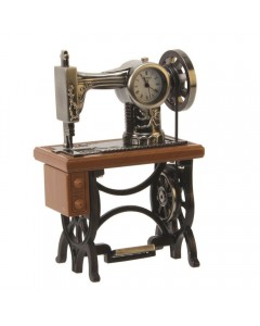 Miniature Sewing Machine Clock 9996