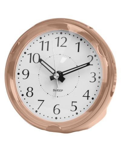 Wm. Widdop Round Rose Gold Alarm Clock 5129RG