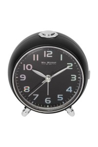 Wm. Widdop Round Black Alarm Clock 5171B