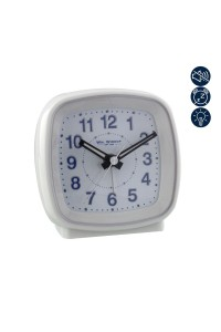 Wm. Widdop Square White Alarm Clock 5205W