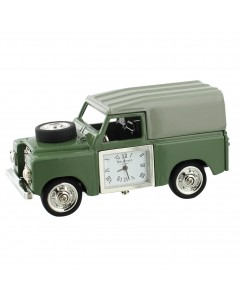 Miniature Green 4 Wheel Drive Mantel Clock 9452