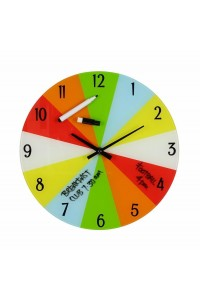 Children's Organise Your Time Glass Wall Clock W7472