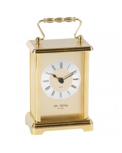 Wm. Widdop Gold Plated Carriage Clock W4306