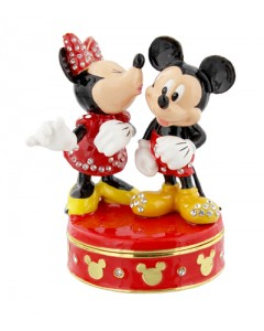 Disney Trinket Box - Mickey & Minnie Kiss DI352
