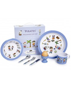 Martin Gulliver Pirates 7 Piece Melamine Set