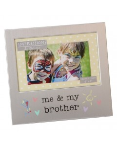 Aluminium 'Me and My Brother' Photo Frame FA519BR