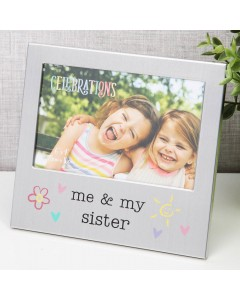 Aluminium 'Me and My Sister' Photo Frame FA519SIS