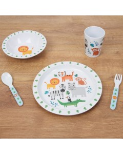 5pce Jungle Baby Tableware Set JB118
