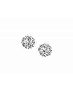 Amore 9ct White Gold Ava Diamond Cluster Earrings 6042WD