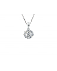 Amore 9ct White Gold Ava Diamond Cluster Pendant 6043WD