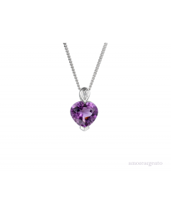 Amore Sterling Silver Sweet On Me Amethyst Pendant 6044SIL