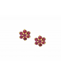 Amore 9ct Gold Angelic Red Ruby Earrings 6390YR