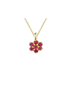 Amore 9ct Gold Angelic Red Ruby Pendant 6394YR