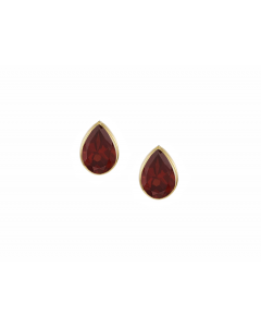 Amore 9ct Gold Eternal Red Garnet Earrings 6395YGT