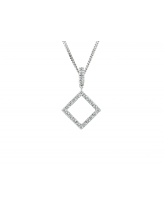 Amore 9ct White Gold Winnie Diamond Pendant 6474