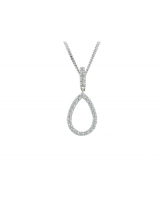 Amore 9ct White Gold Zahara Diamond Pendant 6476
