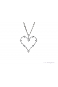 Amore Sterling Silver Light Up My Heart CZ Pendant 7662SILCZ