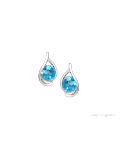 Amore 9ct Gold Viola Blue Topaz Earrings 9125WBT