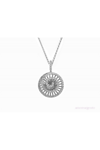 Amore Sterling Silver Wheel Of Fortune CZ Pendant 9191SILCZ