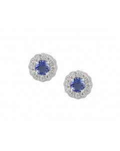 Amore Sterling Silver Cool Blue Tanzanite Earrings 9230SILCZTZ
