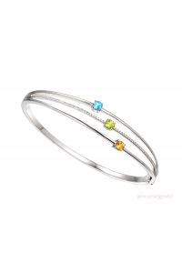 Amore Sterling Silver Kaleidoscope Bangle 9237SILCZ