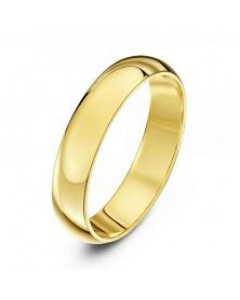 9ct Gold D-Shape Heavy Wedding Band HD 09Y