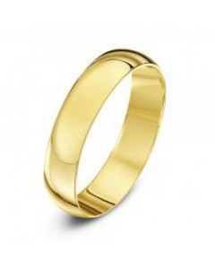 18ct Gold D-Shape Wedding Band LD 18Y