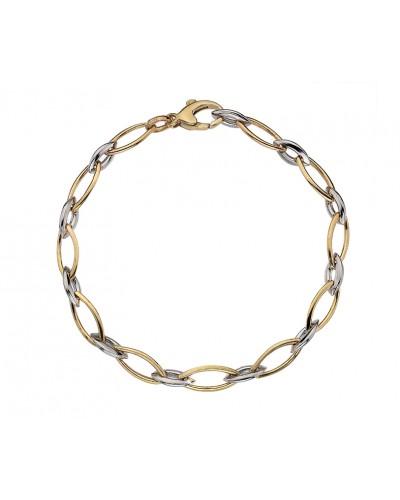 9ct Gold 2 Colour Echo Bracelet GWECHD07