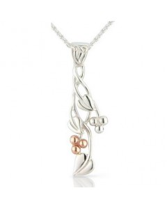 Cymru Gold Sterling Silver And 9ct Gold Tree Of Life Pendant SWP24