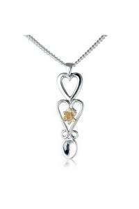 Cymru Gold Sterling Silver And 9ct Gold Daffodil Lovespoon SWP4